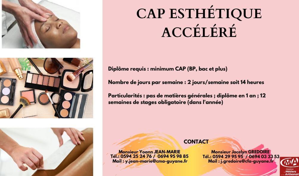 le CAP Esthétique accéléré au CFA de la Chambre de Métiers