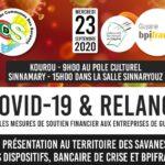 COVID 19 et RELANCE Les mesures de soutien financier aux entreprises de Guyane