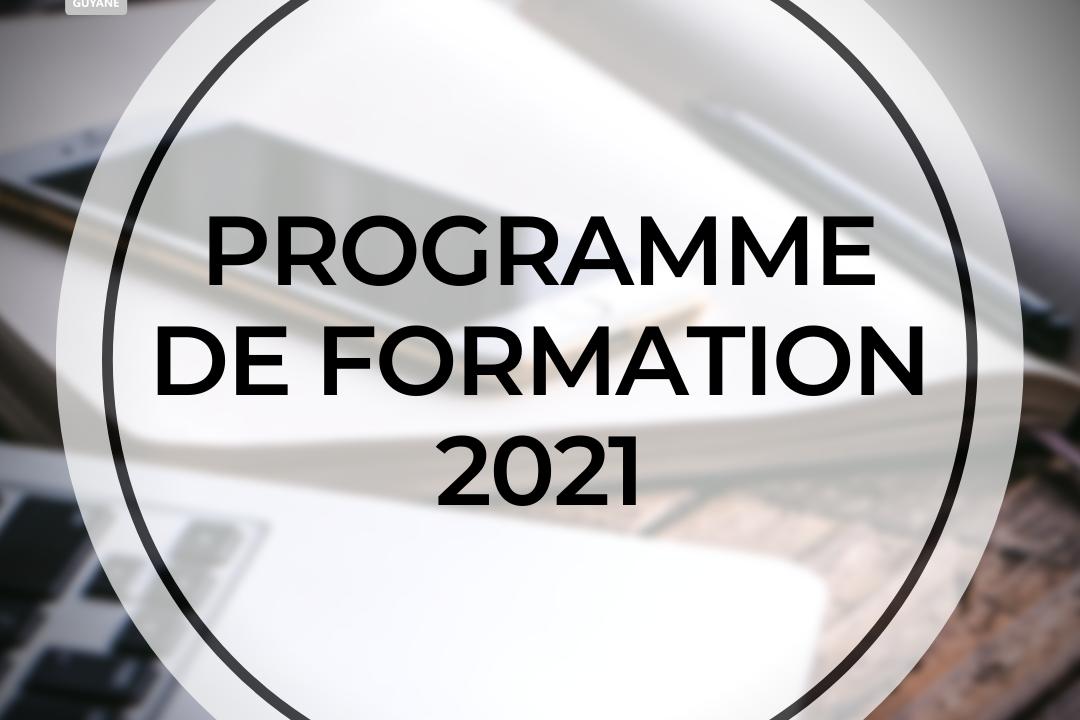 PROGRAMME DE FORMATION 2021