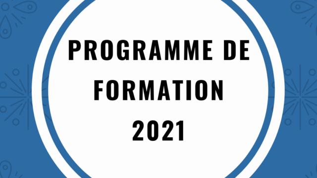 PROGRAMME FORMATION 2021