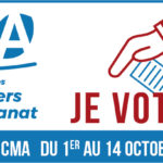 Elections aux CMA  – #ArtisansVotons ! Du 1er au 14 octobre 2021